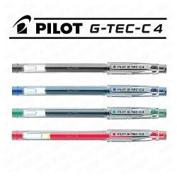 G-Tec-C-4 - Bolígrafo de Gel - 4 unidades - Negro, azul, rojo, y verde