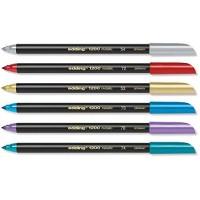 Edding 1200- 1 – 3 mm, juego de 6 unidades, colores metálicos
