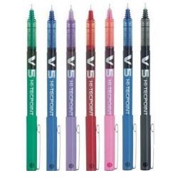 Pack de 7 Bolígrafos Pilot BX V5 Varios Colores